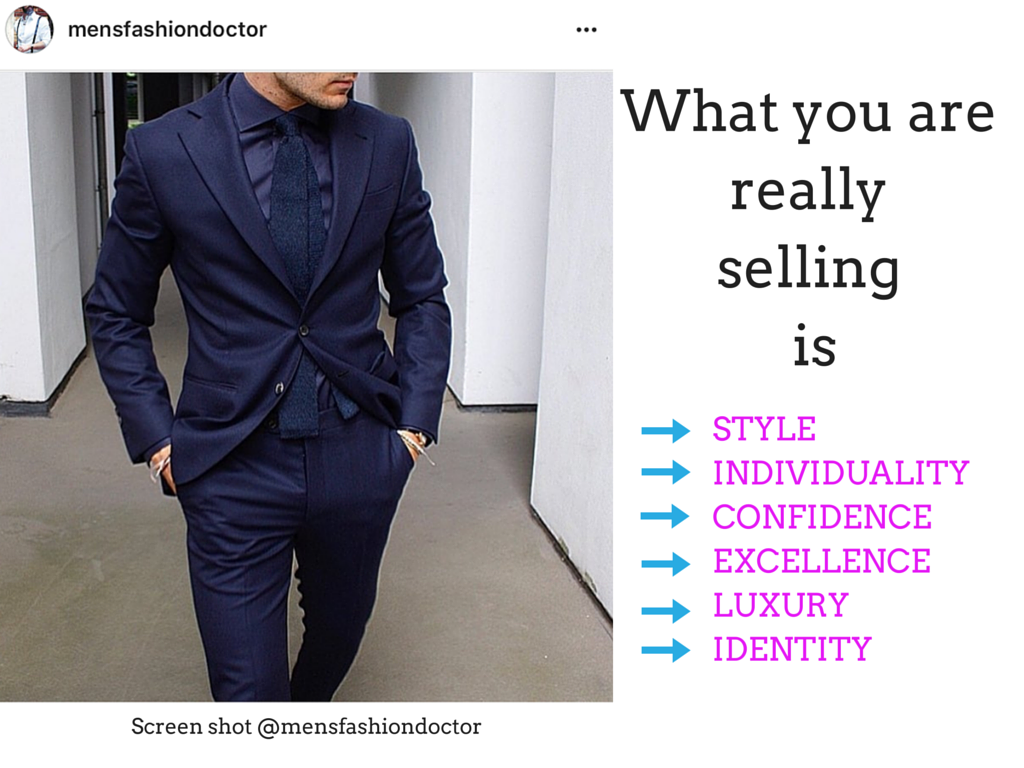 What you are selling is