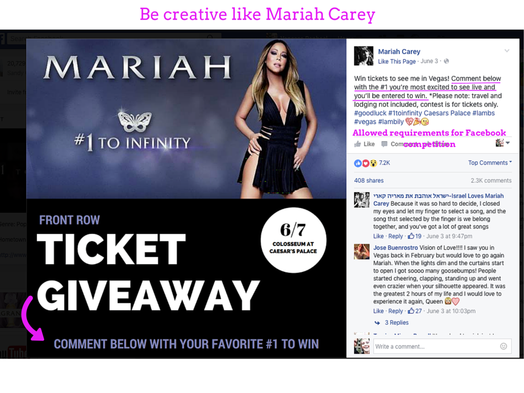 Be creative like Mariah Carey