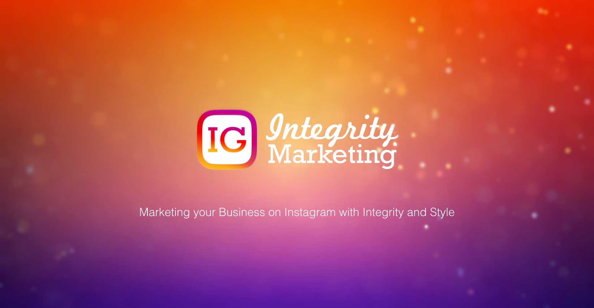 Instagram Integrity Marketing course